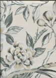 Galleria Lotus Blossom Platinum Wallpaper 1601/924 By Prestigious Wallcoverings